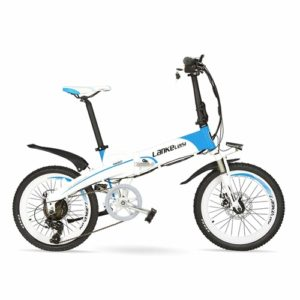 Folding 20 inch electric bike by Lang Tu great for riding around the city and folds away easily