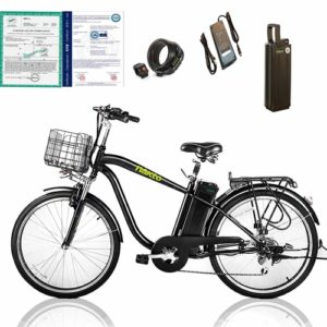 """NAKTO 26"""" Cargo electric bicycle ideal for your city riding and daily commute"""